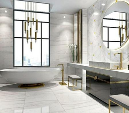 Light Color Polished Porcelain Tile